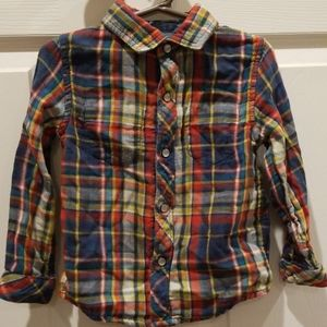 Reversible boys button up dress shirt